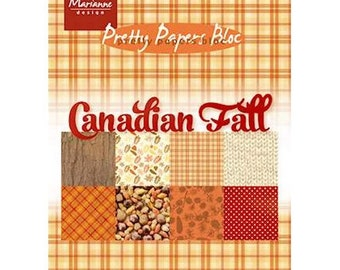 Block 32 15 x 21 cm Marianne Design CANADIAN FALL papers