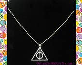Large Deathly Hallows Harry Potter Necklace