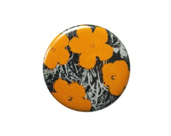 Andy Warhol Marigold Pinback Buttons 1.25 Inch