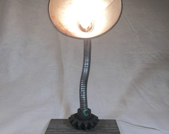 Repurposed Oil Funnel Lamp