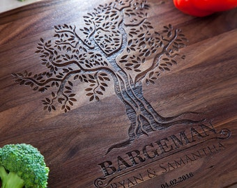 Personalized Cutting Board - Engraved Board Bridal shower gift Family Tree Custom Cutting Board Wedding Gift Housewarming Anniversary