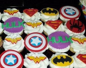 Superhero Avengers Cupcake Toppers