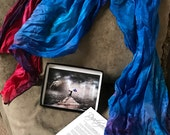 Dyed4you Art Printcard Gift Set with Crinkle Silk (art - Whom Shall I Fear | silk - Trained Hands)