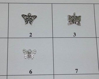 10 Butterfly Charm, Insect Charm