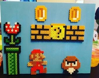 Super Mario on canvas