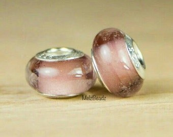 Pink lampwork glass bead,pink European glass bead,pink murano glass bead,large pink glass bead,pink glass bead,pink large hole bead
