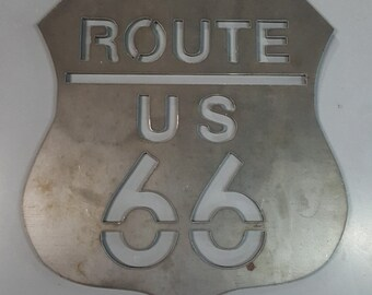 Route 66 Metal Wall Decor
