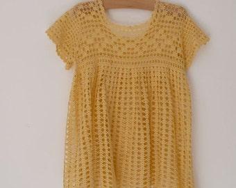 Yellow crochet c. 1940