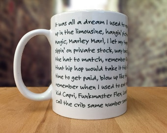 "Biggie ""Juicy"" Lyrics Mug"