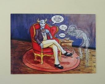 Tea with Demon (digital printing)