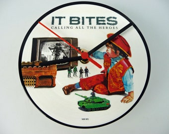 "It Bites - Calling All The Heroes 7"" Picture Disc Record Clock"