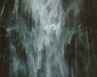 Fine Art Photo Print - Multnomah Falls, Oregon - Moody Waterfall Adventure Print