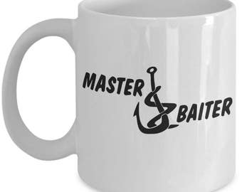 Funny Fishing Mugs - Master Baiter - Ideal Angling Gifts