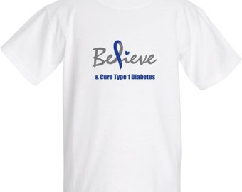 Believe - and Cure Type 1 Diabetes Children's Shirt
