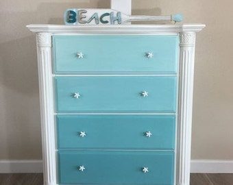 Ombre' 4-Drawer Coastal Chest