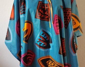Kaftan Poncho Bluse Gr. M, L, XL  Unikat   152305