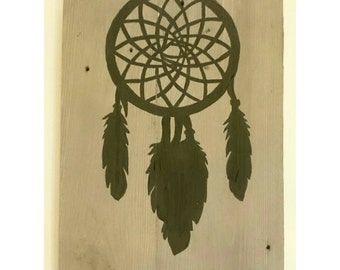 Recycled wooden pallet sign Dream catcher