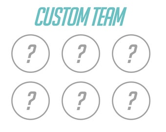 Overwatch Buttons - CUSTOM TEAM