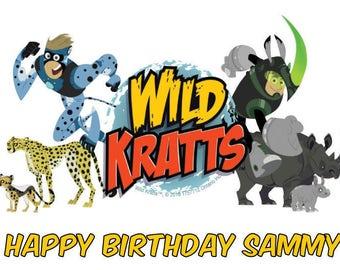 Wild Kratts Edible Cake & Cupcake Topper