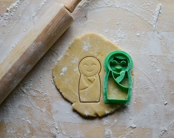 Mary and Baby Jesus Cookie Cutter, Catholic Sugar Cookie, Liturgical Living
