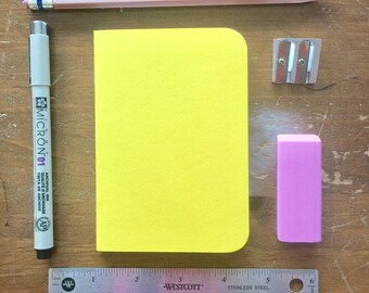 Bulk Blank Notebooks | 3.5 x 5 | Yellow Notebook | Notebook | Sketchbook | Journal | Yellow Journal | Yellow Sketchbook | Travelers Notebook