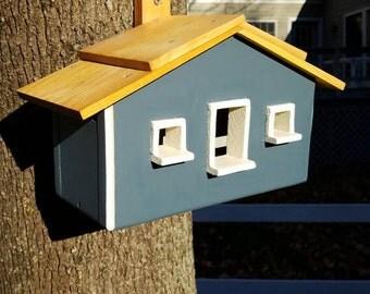 Handmade Hanging Traditional Style Wood Bird House