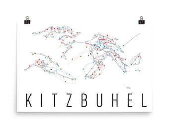 Kitzbuhel Ski Map Art, Kitzbuhel Austria, Kitzbuhel Trail Map, Kitzbuhel Ski Resort Print, Kitzbuhel Poster, Kitzbuhel Art, Kitzbuhel Gift