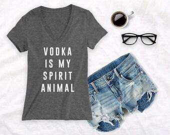 Vodka is my spirit animal shirt day drinking shirt day drinker shirt drinking shirt day drunk shirt
