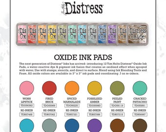 Tim Holtz Distress Oxide Ink Pads - set of 12 - In Stock shipping now!
