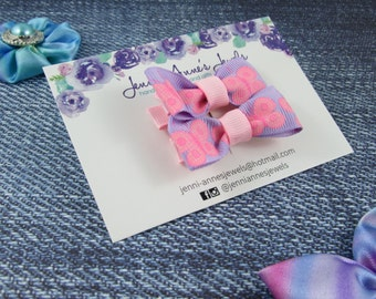 Bow Tie Hair Clip - Set of 2 - Butterfly