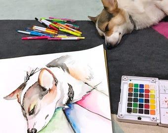 Custom Pet Portrait- Large (18x24)