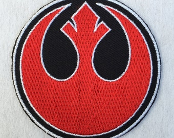 Rebel Alliance Patch Star Wars Embroidered Iron on / Sew on Logo Badge Crest Emblem #1