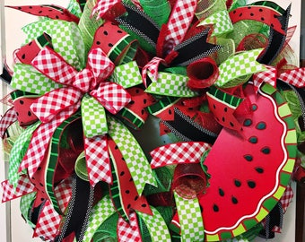 Watermelon Wreath/ Summer Wreath/ Summer Watermelon Wreath/ Summer Deco Mesh Wreath/ Front Door Wreath / Deco Mesh Wreath/ Door Wreath