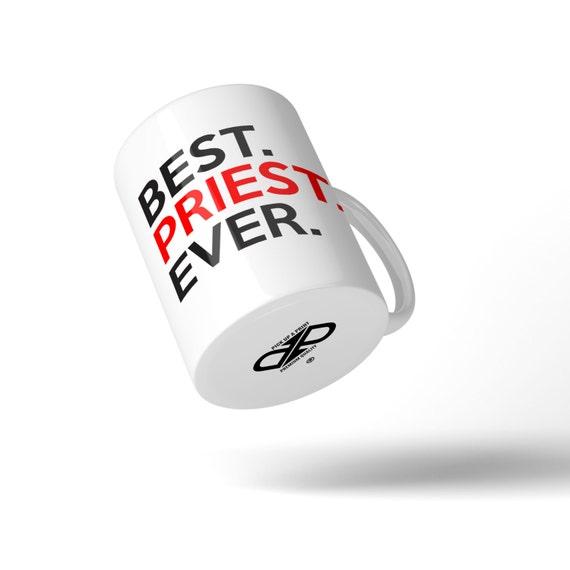Best Priest Ever Mug - Great Gift Idea Stocking Filler