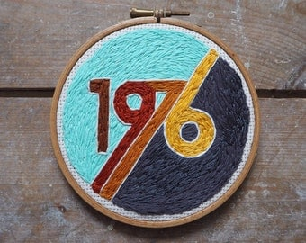 Hand embroidered 1976