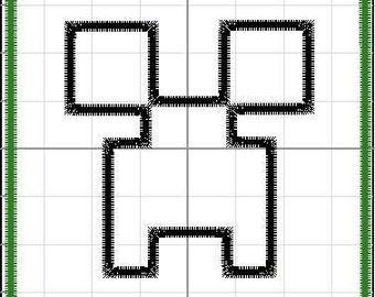 Minecraft Creeper Applique 4x4 DIGITAL FILE