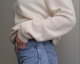 Christian Dior Cream Colored V-Neck Sweater