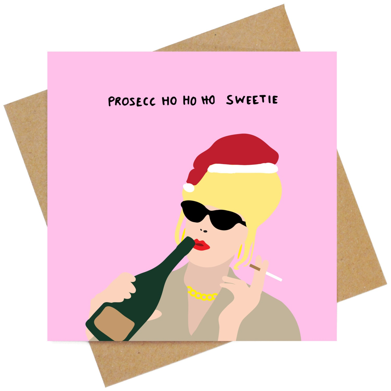 Ho ho holiday printouts to color - Absolutely Fabulous Prosecco Ho Ho Ho Christmas Greeting Card
