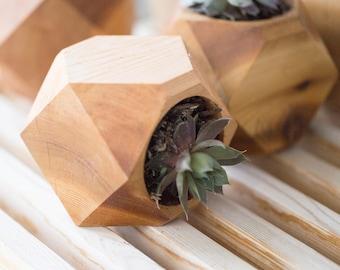 Geometric Cedar Planter set of 3