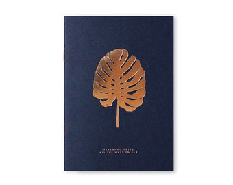 A6 monstera hot copper stamping and Letter press books