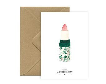 Card A6 - HAPPY MOTHER's DAY - Lipstick