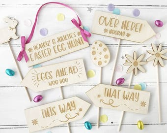 Personalised Wooden Easter Egg Hunt