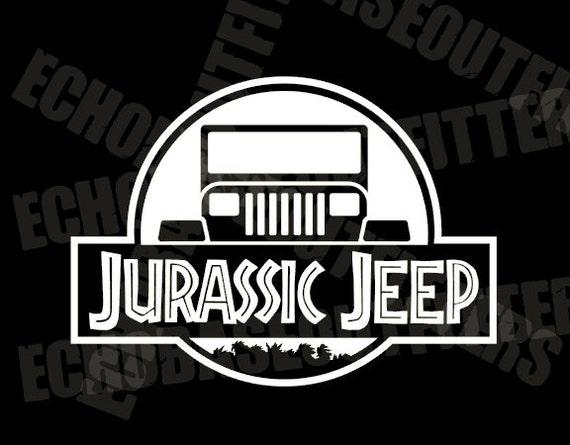 Jurassic Park Jeep Vinyl Cut Decal Sticker
