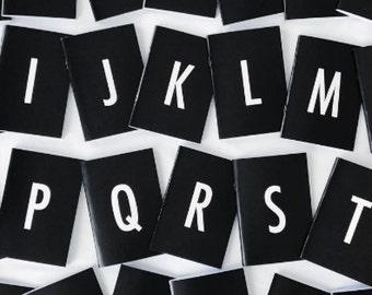 Minimalist Initials Notebook in Black