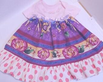 Baby Girls Polka-Dot and Floral Mixed Print Flare Dress, 3 - 4 mo.