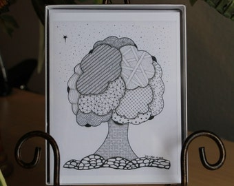 "MADE TO ORDER - 4 1/4"" x 5 1/2"" Blank Notecards with envelopes - From My Originial Zentangle Art."
