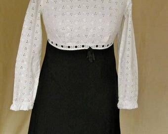 Possibly unworn original 6t's mod cotton dress (half lined and unfinished hem)