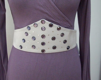 Fabric belt with Rhinestones