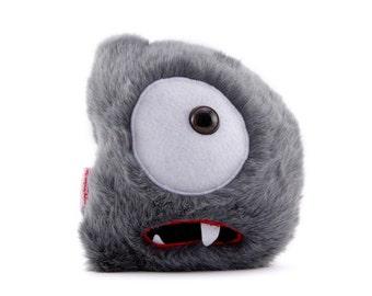Alphabite D is a hopeful, fuzzy Custom Monster Plush Toy