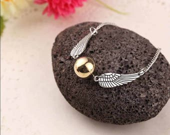 Harry Potter Golden snitch bracelet!